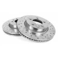 SDB000614CDG (SDB000613CDG) Priekiniai stabdžių diskai (perforuoti)(2 vnt.)(Discovery 3,RR Sport)(4.4L)